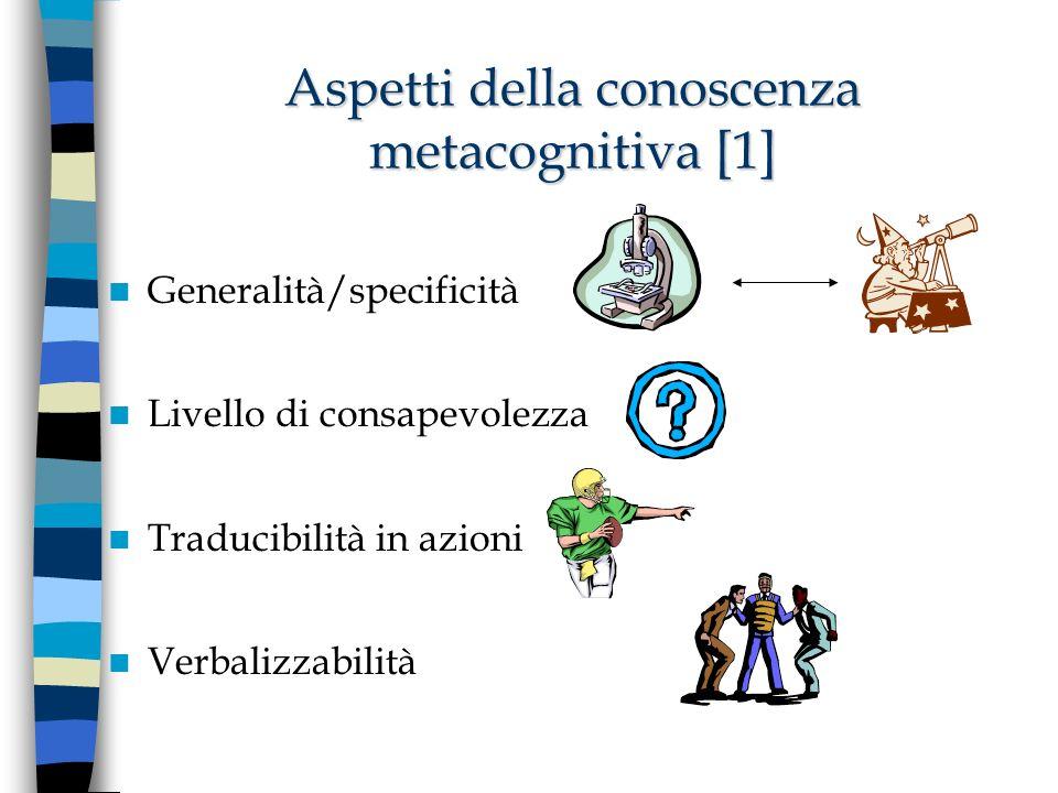 Aspetti della conoscenza metacognitiva [1]